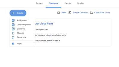 Online Teaching platforms: activity templates google classroom