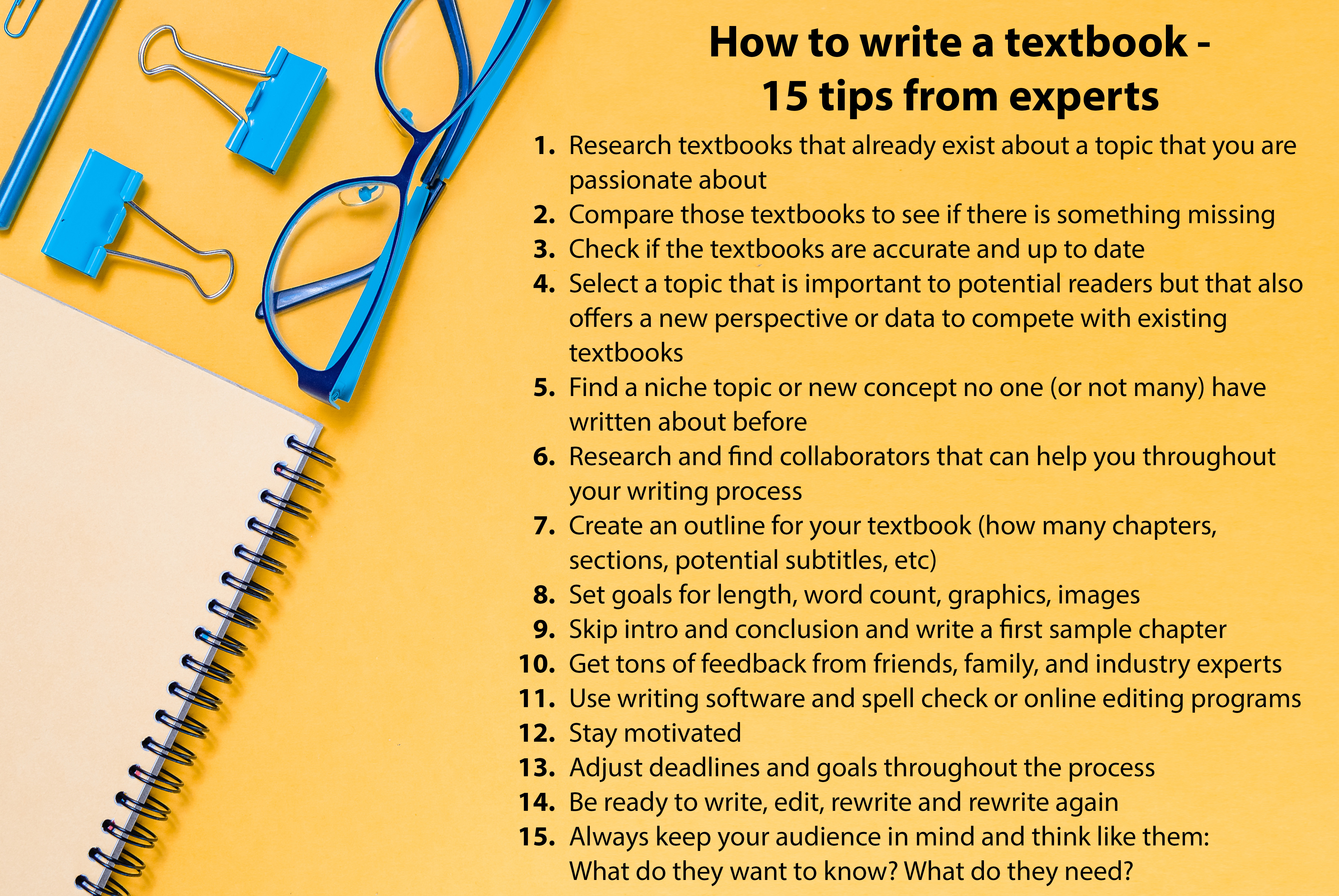 How to write a textbook - 15 Tips